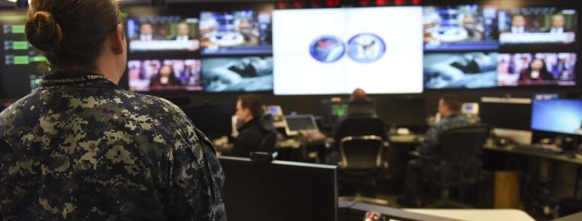 Operationszentrale der 10. US-Flotte des Fleet Cyber Command