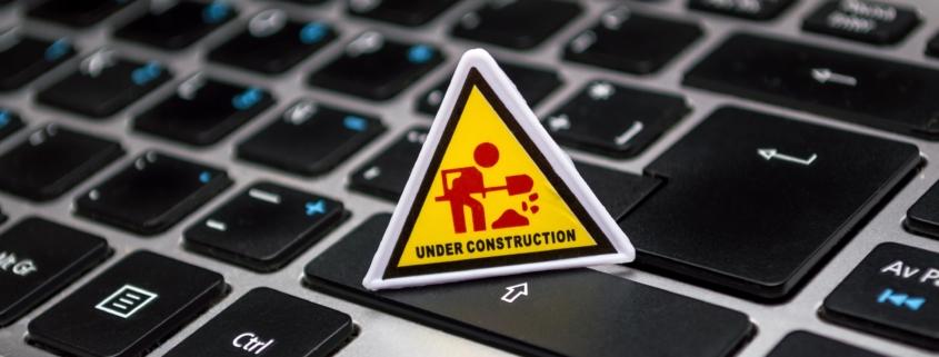 Laptop under consturction